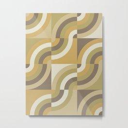 Retro Geometry III Metal Print