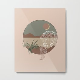 Abstract Tiger Art Metal Print