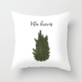 Life is short: vita brevis Throw Pillow
