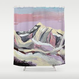 Purple Mountain Shower Curtain