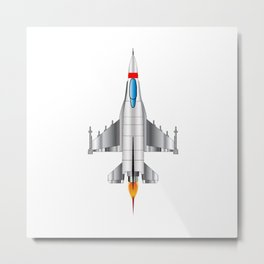Modern Jet Fighter Plane Metal Print