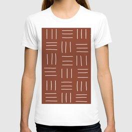 Rust Mudcloth T-shirt