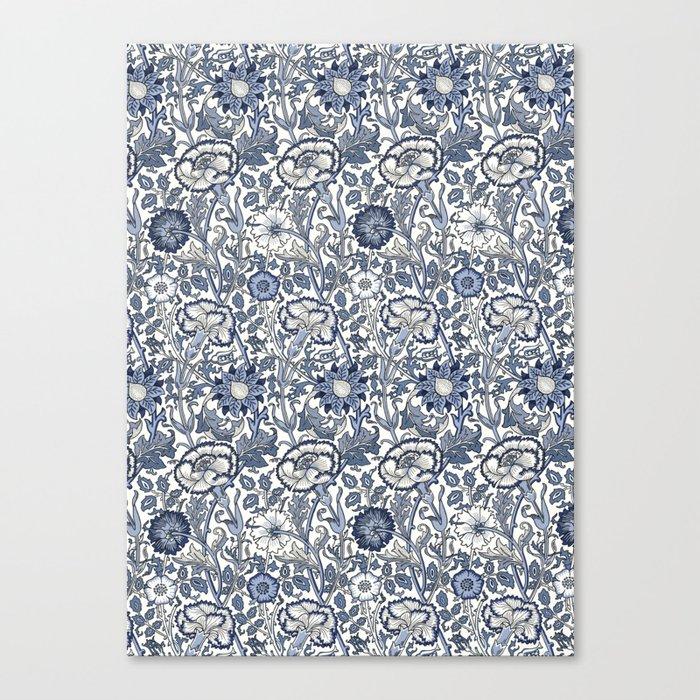 William Morris Navy Blue Botanical Pattern 6 Leinwanddruck