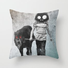out for a walk Throw Pillow
