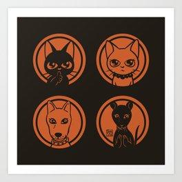Four friends Art Print