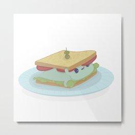 Fleedo in a sandwich Metal Print