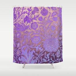 Wiiliam Morris revamped, art nouveau pattern Shower Curtain
