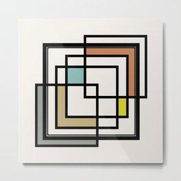 Mid Century Modern Squares Metal Print