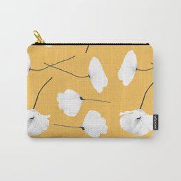 Poppies on mustard Carry-All Pouch