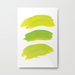 Abstract Chartreuse Artwork, Chartreuse Green Yellow Watercolor Metal Print