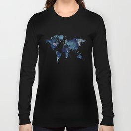 Blue marble texture Long Sleeve T-shirt