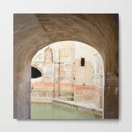 View into Roman Baths Metal Print