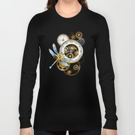 Dials with Dragonfly ( Steampunk ) Long Sleeve T-shirt