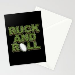 Ruck And Roll - Rugby Attitude Stationery Cards