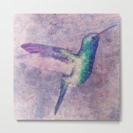 abstract hummingbird Metal Print