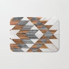 Urban Tribal Pattern 12 - Aztec - Wood Bath Mat