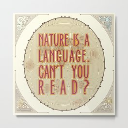 Nature is a Language: The Smiths Lyrics Metal Print