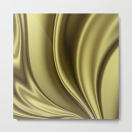 Abstract Fractal Colorways 02 Simple Gold Metal Print