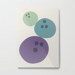 Abstract No.15 Bowling Balls Metal Print