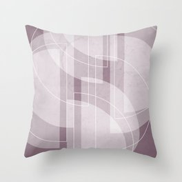 Abstract Semi Circle Design in Musk Mauve Throw Pillow