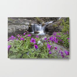 Secluded Waterfall Metal Print