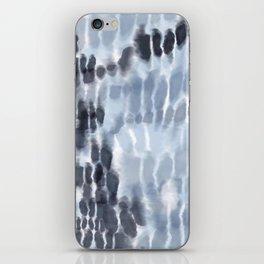 Blue Tie-Dye Squares iPhone Skin