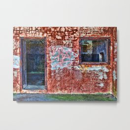 Abandonned building Metal Print