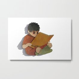 a book would be nice Metal Print