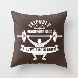 Friendly Neighbourhood Lift Engineers Throw Pillow