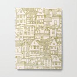 cafe buildings olive Metal Print