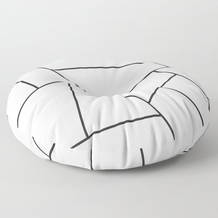 Modern Geometric 57 Floor Pillow