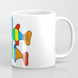4 Fish - Black lines Coffee Mug