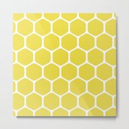 bee nest yellow pattern Metal Print