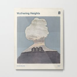 Emily Brontë Wuthering Heights - Minimalist literary design Metal Print