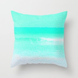Blissful Beach - Turquoise Wave Throw Pillow