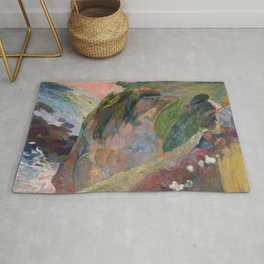 The Flageolet Player on the Cliff by Paul Gauguin Rug