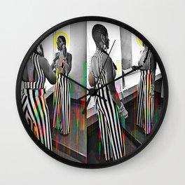 CareFreeBlackWoman Wall Clock