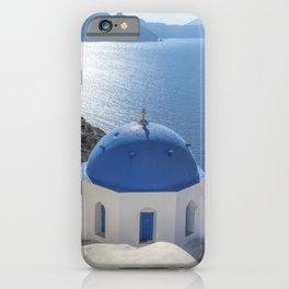 Santorini island in Greece iPhone Case