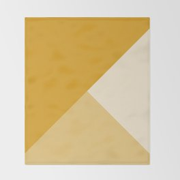 Mustard Tones Throw Blanket