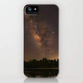 Summer Milky Way Over the Lake iPhone Case