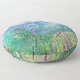 Legend of Zelda Breath of the Wild Intro Impressionist Painting Floor Pillow