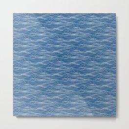 Waves - classic blue Metal Print