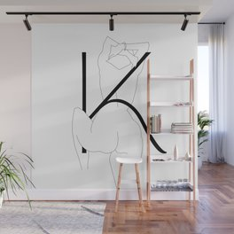In Love with Letter K Wall Mural
