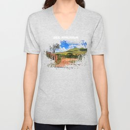 See America The Beautiful American Traveller Unisex V-Neck