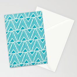mala, african tribal pattern turquoise Stationery Cards