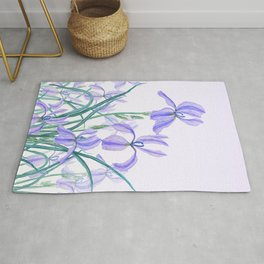 purple iris watercolor Rug