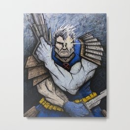 Cable of the New Mutants Metal Print