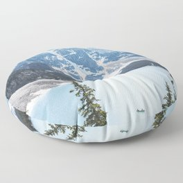 Moraine Lake | Blue | Landscape Photography  Floor Pillow