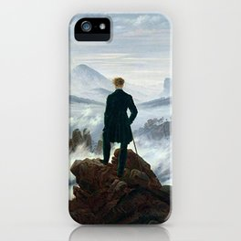 Wanderer above the Sea of Fog Painting by Caspar David Friedrich iPhone Case
