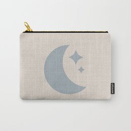 Moon & Stars - Light Blue Carry-All Pouch